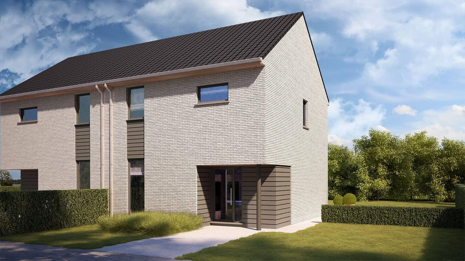 Nieuw te bouwen energiezuinige woning in Galmaarden